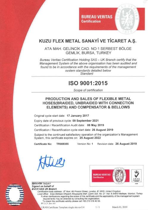 ISO 9001-2015 UKAS
